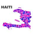 mosaic haiti map of square elements vector image vector image