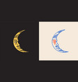 mystical moon astronomy alchemy and astrology vector image