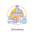 oil industry concept icon vector image vector image
