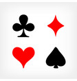 playing card sign symbols vector image vector image