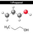 Propanol - 1-propanol molecule vector image vector image