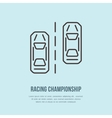 Racing sport car line icon Speed vector image vector image