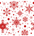 Red christmas seamless background with snowflakes vector | Price: 1 Credit (USD $1)