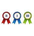 ribbon badges vector image