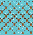 seamless funny pattern with head deer on stars vector image vector image