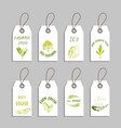 set of eco friendly labels vector image vector image