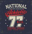 sport wear typography emblem t-shirt stamp vector image vector image