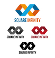 Square infinity vector image vector image