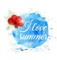 summer tropical background with flower vector image vector image
