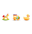 toys horse train rubber duck vector image vector image