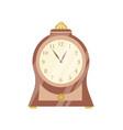 vintage clock flat elegant vector image