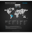 Website Design Template with World Map