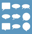 white flat speech and think bubbles set vector image vector image