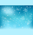 winter snowfall background objects on blue vector image vector image