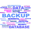 word cloud backup vector image vector image