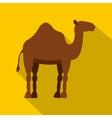 Dromedary camel icon flat style vector image