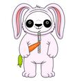 Panda in bunny suit vector image