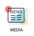 news icon for media on white background vector image