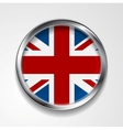 United Kingdom of Great Britain metal button flag vector image