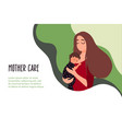 06 mother with a baby vector image vector image