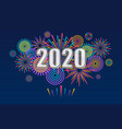 2020 new year banner with fireworks vector image vector image
