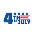 4th july independence day american honor vector image vector image