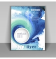 abstract watercolor style brochure design in blue vector image vector image