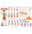 athlete sportsman cartoon constructor of vector image vector image