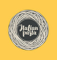 banner or menu with italian pasta in retro style vector image vector image