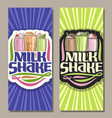 banners for milk shake vector image vector image