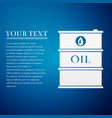 barrel oil flat icon on blue background vector image vector image