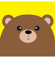 Bear grizzly big head Cute cartoon character vector image