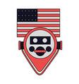 binocular viewer new york american flag vector image vector image