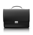black business briefcase vector image