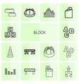block icons vector image vector image