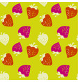 classic strawberries seamless pattern vector image