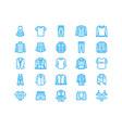 clothing fasion flat line icons men women