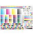 color cmyk management elements offset print vector image vector image