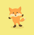 cute fox cartoon character vector image