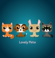 Cute funny lovely pets vector image