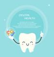 cute teeth design template vector image vector image