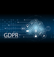 data protection regulation gdpr cyber security vector image