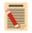 Document with pencil icon flat style vector image vector image