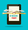 e-book reader book symbol vector image
