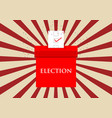 election vote logo vector image