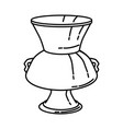 enamelled glass mosque lamp icon doodle hand vector image