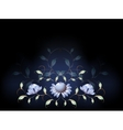 Fantastic blue flowers on a black base EPS10 vector image vector image