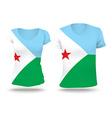 Flag shirt design of Djibouti vector image vector image