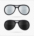 glasses set on transparent background vector image vector image