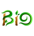 Green bio word vector image